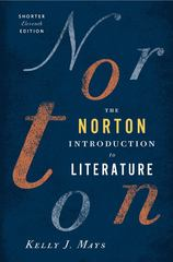 The Norton Introduction to Literature, Shorter Edition 11th edition 9780393913392 0393913392