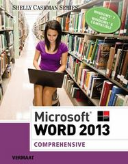 Microsoft Word 2013 1st Edition 9781285953168 1285953169