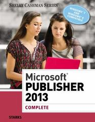 Microsoft Publisher 2013 1st Edition 9781285167329 1285167325