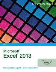 New Perspectives on Microsoft Excel 2013, Brief 1st Edition 9781285169392 1285169395