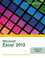 New Perspectives on Microsoft Excel 2013, Introductory 1st Edition 9781285966243 1285966244