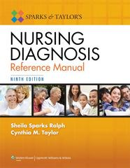 Sparks and Taylor's Nursing Diagnosis Reference Manual 9th Edition 9781451187014 1451187017