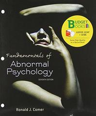 Fundamentals of Abnormal Psychology 7th edition 9781464134708 1464134707