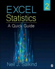 Excel Statistics 2nd Edition 9781452257921 1452257922