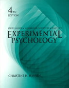 Experimental Psychology 4th edition 9780534343460 0534343465