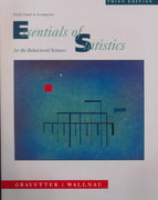Essentials of Statistics for the Behavioral Sciences 3rd edition 9780534358068 0534358063