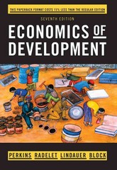 Economics of Development 7th Edition 9780393123524 0393123529