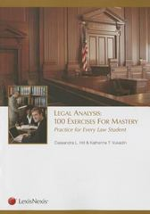 Legal Analysis 1st Edition 9781422483244 142248324X