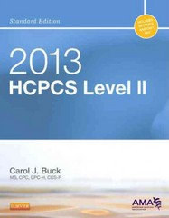 2013 HCPCS Level II Standard Edition 1st Edition 9781455745289 1455745286