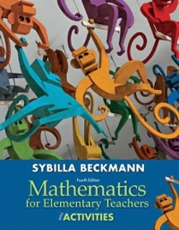 Mathematics for Elementary Teachers with Activities 4th Edition 9780321825728 0321825721