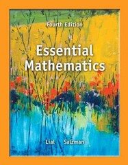Essential Mathematics 4th Edition 9780321845054 0321845056