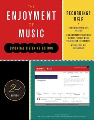 Recordings Disc for The Enjoyment of Music, Essential Listening Edition 2nd Edition 9780393921052 0393921050