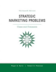 Strategic Marketing Problems 13th edition 9780132747257 0132747251