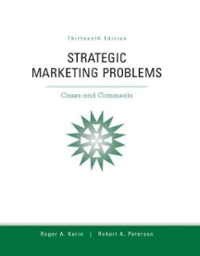 solution of strategic marketing problems chapter Marketing managment solutions for chapter 2 q1-3 in: business and management submitted by kasham1685 words 633 pages 3 strategic marketing problems cases and comments v11 chapter 2 1a) contribution per cd unit = unit selling price – unit variable cost = $900 – ($125 + $035 + $100 ) = $640.
