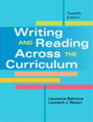 Writing and Reading Across the Curriculum 12th edition 9780205885435 0205885438
