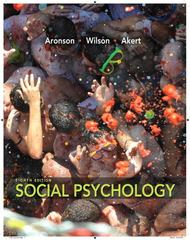 Social Psychology 8th Edition 9780205796625 0205796621