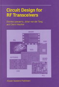 Circuit Design for RF Transceivers 1st edition 9780792375517 0792375513