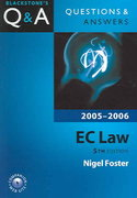 Questions and Answers EC Law 2005-2006 5th edition 9780199276509 0199276501