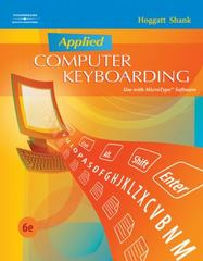 Applied Computer Keyboarding 6th Edition 9780538445436 0538445432