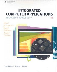 Integrated Computer Applications (with Data CD-ROM) 5th edition 9780538730396 0538730390