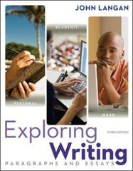 Exploring Writing 3rd Edition 9780073533339 0073533335