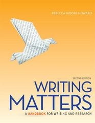 Writing Matters, Tabbed (Spiral Bound Edition) 2nd Edition 9780077505974 0077505972