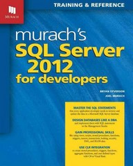 Murach's SQL Server 2012 for Developers 1st Edition 9781890774691 1890774693