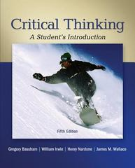 Critical Thinking 5th Edition 9780078038310 0078038316