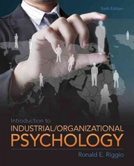 Introduction to Industrial and Organizational Psychology 6th edition 9780205254996 0205254993