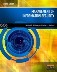 Management of Information Security 4th Edition 9781305156036 130515603X