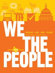 We the People 9th Edition 9780393921113 0393921115