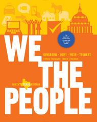 We the People 9th Edition 9780393124385 039312438X