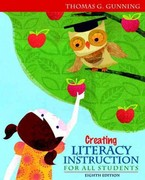 Creating Literacy Instruction for All Students Plus NEW MyEducationLab with Pearson eText -- Access Card Package 8th edition 9780132900959 0132900955