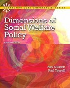 Dimensions of Social Welfare Policy Plus MySearchLab with eText -- Access Card Package 8th edition 9780205223510 0205223516
