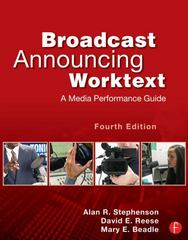 Broadcast Announcing Worktext 4th Edition 9780240818603 0240818601