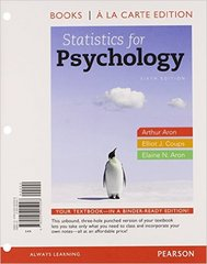 Statistics for Psychology, Books a la Carte Edition 6th edition 9780205905928 0205905927