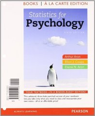 Statistics for Psychology, Books a la Carte Plus NEW MyStatLab with eText -- Access Card Package 6th edition 9780205923922 0205923925