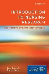 Introduction To Nursing Research 3rd Edition 9781449695071 1449695078
