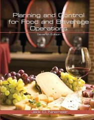 Planning and Control for Food and Beverage Operations with Answer Sheet (AHLEI) 7th edition 9780133097276 0133097277