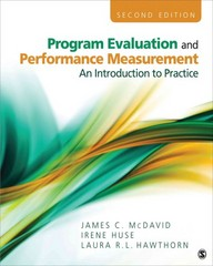 Program Evaluation and Performance Measurement 2nd edition 9781412978316 1412978319