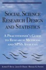 Social Science Research Design and Statistics 0 9780978718671 0978718674