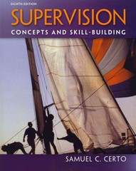 Supervision: Concepts and Skill-Building 8th Edition 9780078029189 007802918X