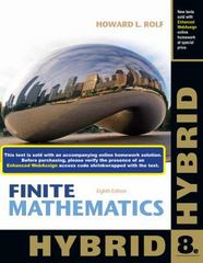 Finite Mathematics, Hybrid (with Enhanced WebAssign with EBook LOE Printed Access Card for One-Term Math and Science) 8th edition 9781285084640 1285084640
