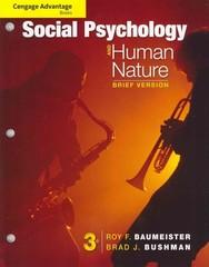 Cengage Advantage Books: Social Psychology and Human Nature, Brief 3rd Edition 9781133956389 1133956386
