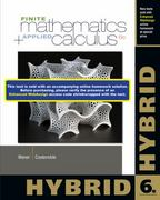 Finite Math and Applied Calculus, Hybrid 6th Edition 9781285056364 1285056361