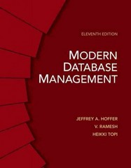 Modern Database Management 11th Edition 9780133061284 0133061280