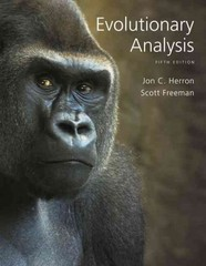 Evolutionary Analysis 5th Edition 9780321616678 0321616677