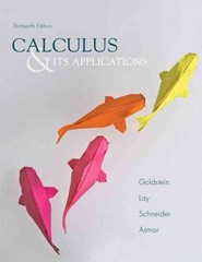 Calculus & Its Applications 13th Edition 9780321848901 032184890X