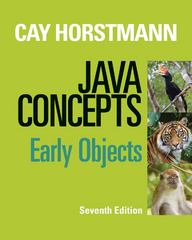 Java Concepts 7th Edition 9781118431122 111843112X