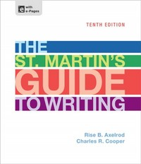 The St. Martin's Guide to Writing 10th Edition 9781457632501 1457632500